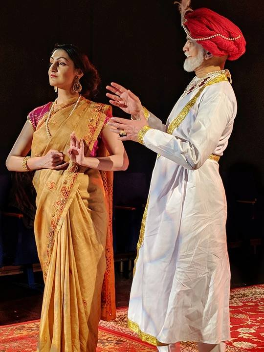 Sheetal Kapoor playing Gauhar Jaan in Gauhar Jaan: The Datia Incident at The Omnibus Theatre 2018