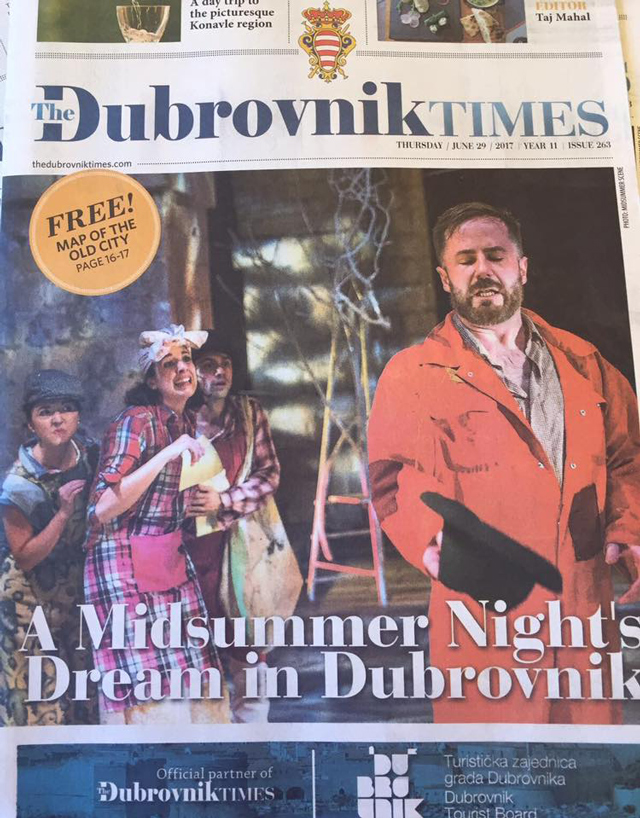Cover of The Dubrovnik Times June 2017