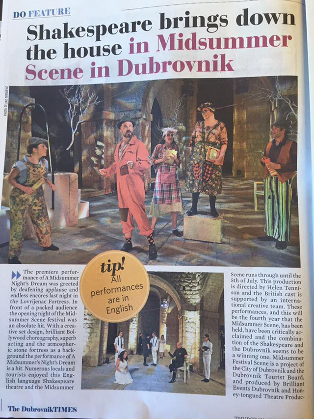 Image inside Dubrovnik Times Article