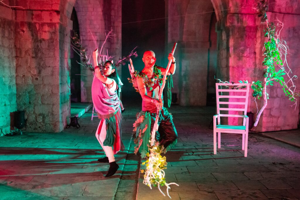 Production Photo of A Midsummer Night's Dream 2018 at Fort Lovrijenac featuring Sheetal Kapoor and James Burton