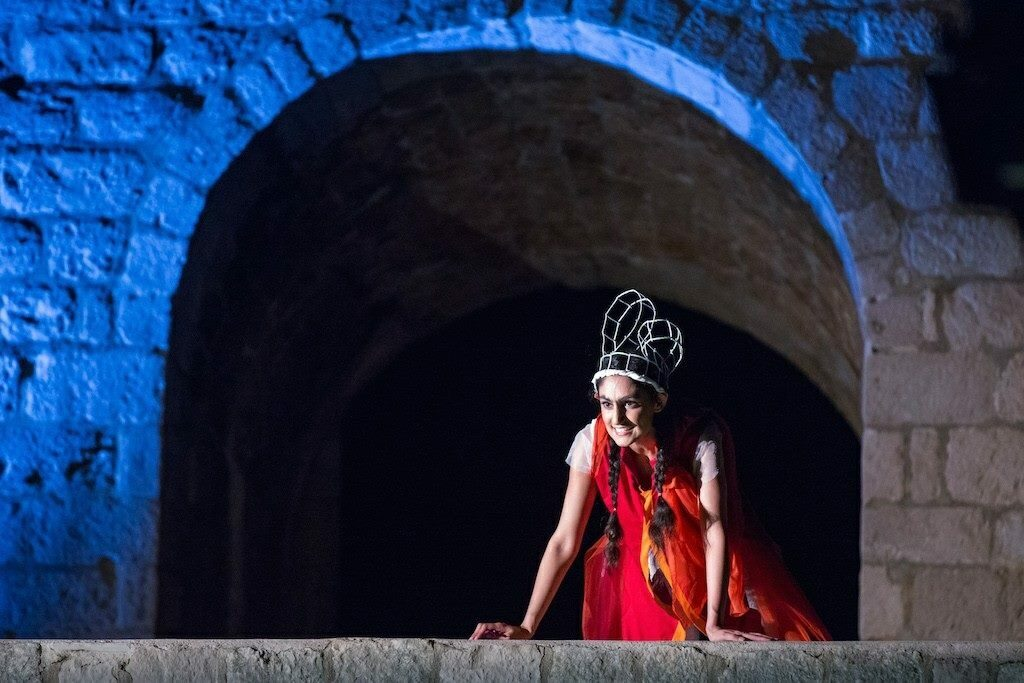 Production photo of Sheetal Kapoor for A Midsummer Night's Dream in Dubrovnik