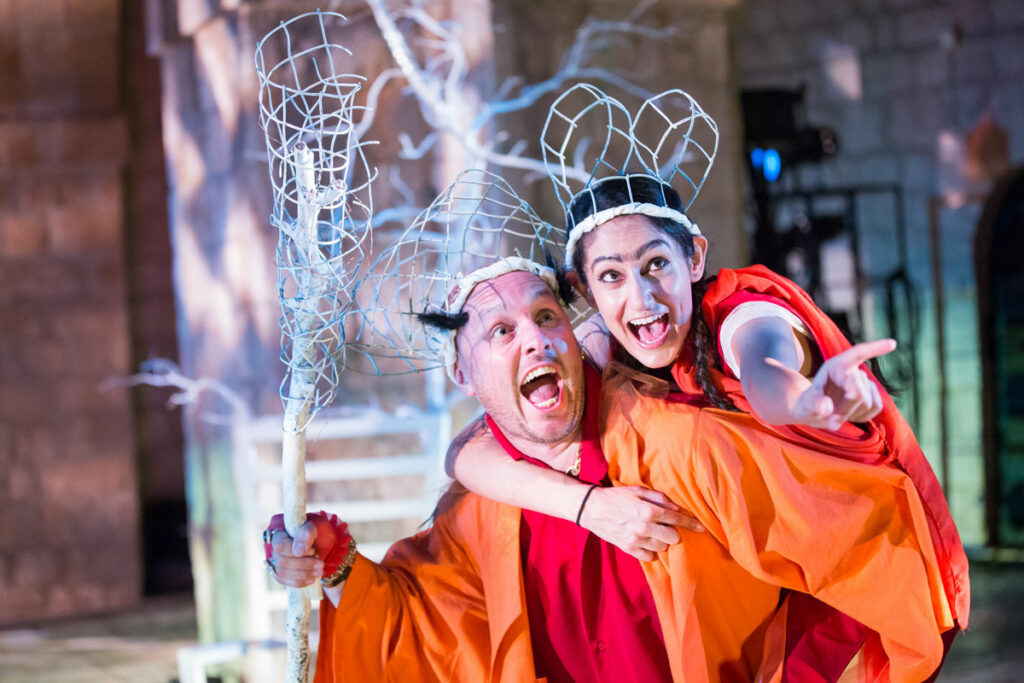 Production photo of Sheetal Kapoor and James Burton for A Midsummer Night's Dream in Dubrovnik