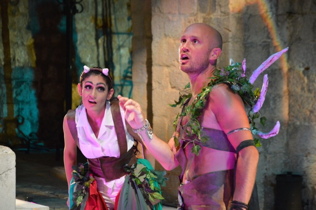 Sheetal Kapoor playing Puck in Helen Tennison's A Midsummer Night's Dream