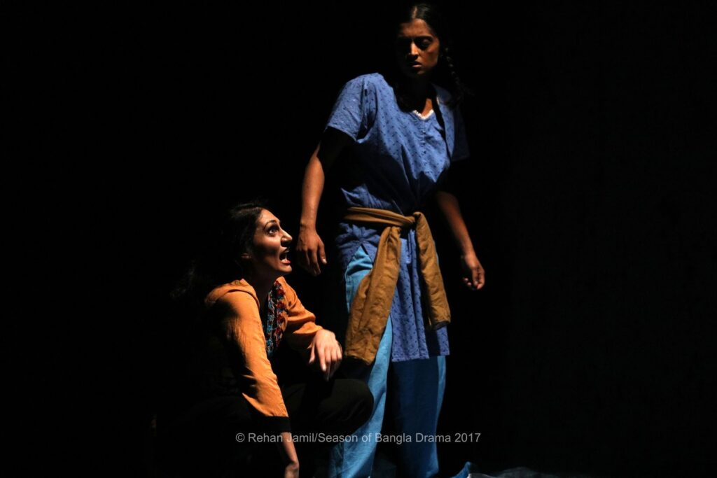 Production photo of Silent Sisters-Brothers Unhinged by Sohaya Visions and Mukul and Ghetto Tigers featuring Sheetal Kapoor and Komal Amin