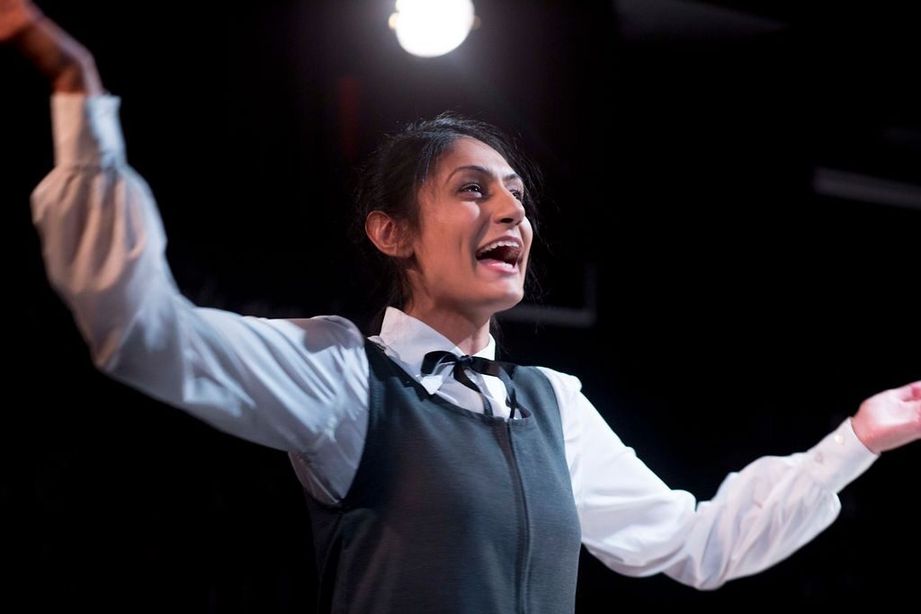 Sheetal Kapoor as The Pupil in The Lesson at The Hope Theatre photo by lhphotoshots